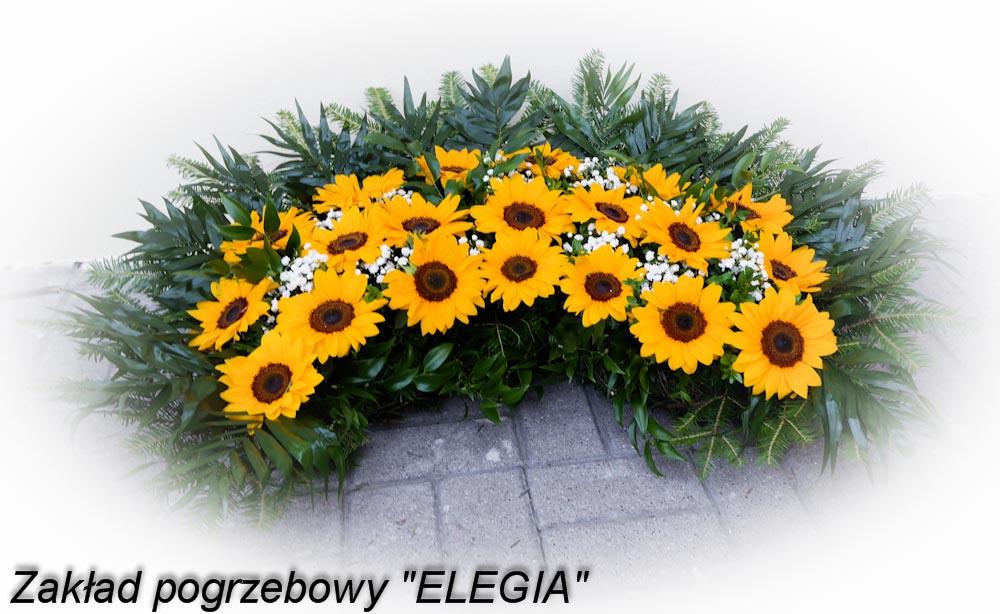 Wieniec pogrzebowy typu pająk - kwiaty na pogrzeb w warszawie