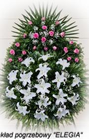 Wieniec wykonany przez zakład pogrzebowy elegia w warszawie