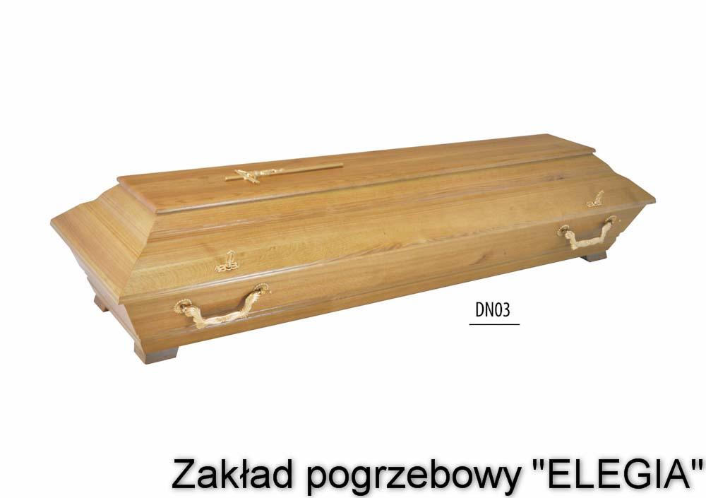 Trumna pogrzebowa model DN03 akcesoria pogrzebowe i pogrzeby