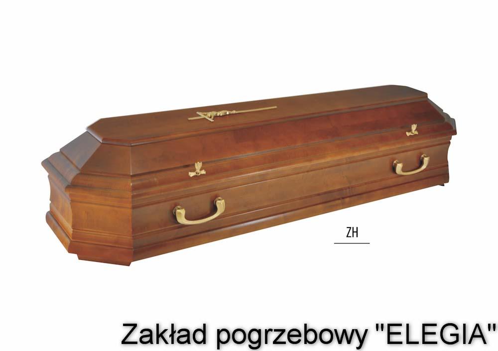 Jasno brązowa trumna pogrzebowa na pogrzeb w warszawie