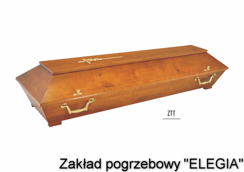 Jasna trumna do pogrzebu ZTT w zakład pogrzebowy elegia warszawa