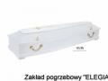 Biała trumna model 195/Pb w zakład pogrzebowy elegia warszawa