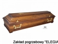 Brązowe akcesoria i trumny pogrzebowe w elegia usługi pogrzebowe