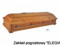 Zdobiona trumna pogrzebowa model DA - zakład pogrzebowy elegia