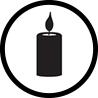 świeca ikonka dla zakład pogrzebowy elegia