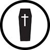 Trumna ikonka dla zakład pogrzebowy elegia