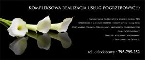 Usługi pogrzebowe baner reklamowy