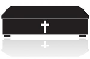 Ikonka trumna na pogrzebie