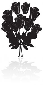 Ikonka kwiaty na pogrzeb