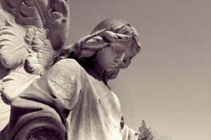 Anioł na pogrzebie