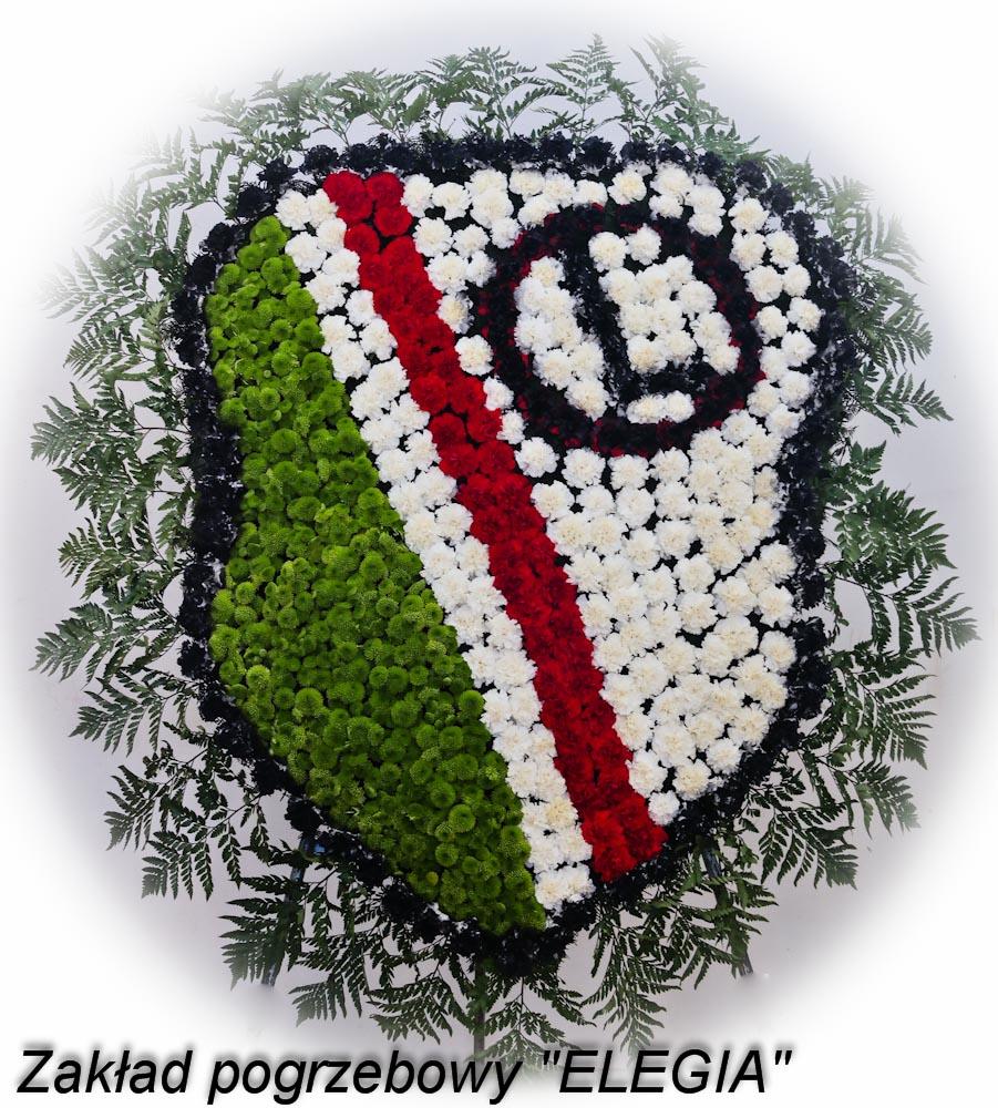 Wieniec pogrzebowy legia warszawa w zakład pogrzebowy elegia