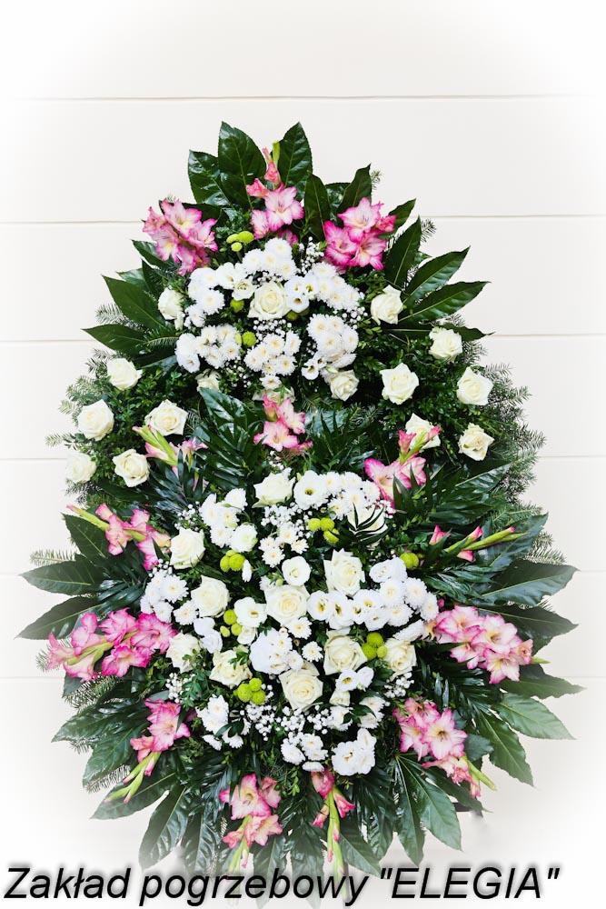 Wieniec pogrzebowy wykonany przez elegia usługi pogrzebowe