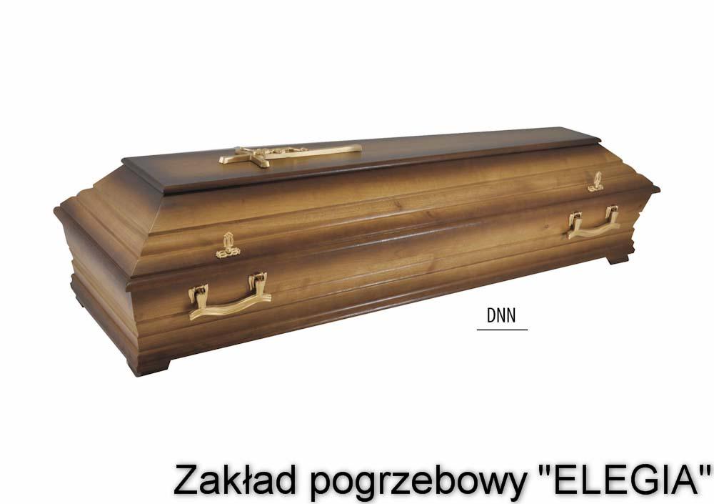 Zdobiona trumna pogrzebowa DNN w biurze usług pogrzebowych elegia