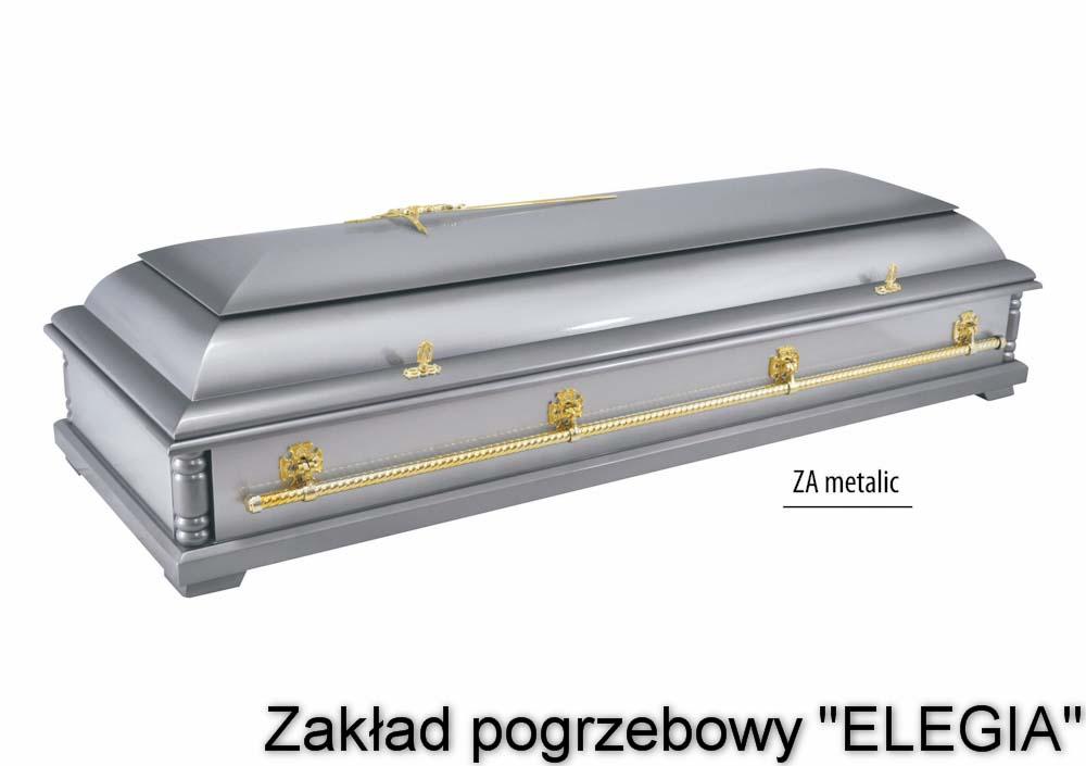 ZA Metlic zamknięta - trumna pogrzebowa na pogrzeb
