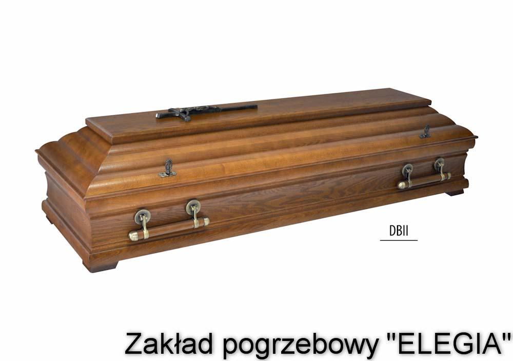 zdobiona ciemna trumna na pogrzeb w warszawie