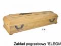 elegancka jasna trumna pogrzebowa dla zakładu pogrzebowego