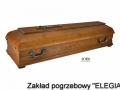 Trumna pogrzebowa w modelu DCH00 elegia usługi pogrzebowe