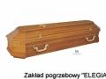 Duża jasna trumna model DH dla zakład pogrzebowy elegia warszawa