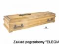 Mała jasna trumna DK w zakładzie pogrzebowym elegia