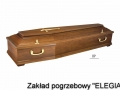 Trumna na pogrzeb w warszawie model DP ciemna oferta pogrzebowa