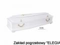 Biała trumna model 170/pb dla usług pogrzebowych elegia warszawa