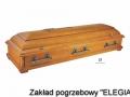 Ozdobiona trumna pogrzebowa dla elegia zakład usług pogrzebowych