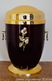 Złoto czarna urna do kremacji w warszawie usługi pogrzebowe elegia