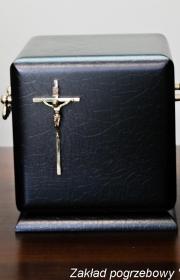 Czarna urna pogrzebowa do kremacji i pogrzebów w warszawie