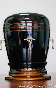 Urna pogrzebowa S1 porcelana zakład pogrzebowy elegia
